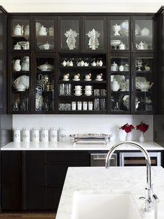 black and white butler's bar