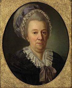 Портрет 1781 года работы И. Ф. А. Дарбеса. Государственная Третьяковская галерея Гедви́га Елизаве́та Курляндская, в замужестве баронесса Екатери́на Ива́новна Черка́сова (1727—1797)