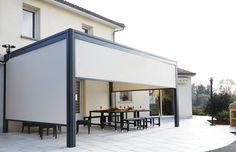Pergolas aluminium à toit rigide orientable