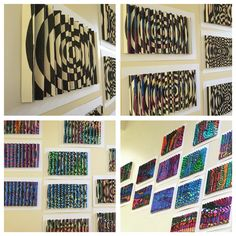 Agamographs inspired by Yaacov Agam. 6th grade project.