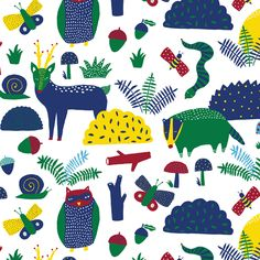 Flora and Fauna :: In the Forest by Steffie Brocoli for Cloud9 Fabrics