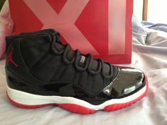 Nike Air Jordan 11 XI Retro BRED Black Red PlayOff 378037 010 DeadStock Sz 12