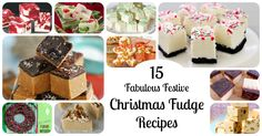 Homemade Christmas Fudge Recipes - the perfect Christmas Gift! 15 of the best DIY holiday fudge recipes: Gingerbread, Mint, Candy Cane, Bailey's, Salted Caramel, & more!