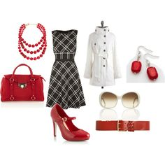 Plaid w/Red and White Accents, created by jwright412.polyvore.com