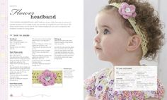Learn how to make a knitted flower headband (Baby & Toddler Knits Made Easy by DK)