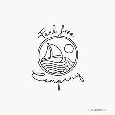 Logo Freiheit Meer Logo Design, Home Decor, Self, Cool Logo, Create Logos, Creative Logo, Modern Logo, Company Names
