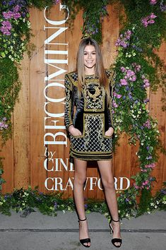 Model Kaia Jordan Gerber attends a book party in honor of 'Becoming' by Cindy Crawford, hosted by Bill Guthy And Greg Renker, at Eric Buterbaugh Floral on December 4, 2015 in West Hollywood, California.