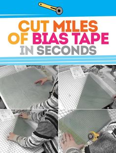 A mind blowingly easy way to cut tons of bias tape in seconds - literally seconds. I can't believe how easy this is.