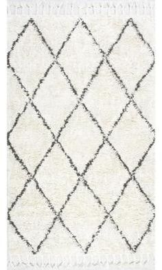 Nuloom SPRE14A-305 Moroccan Collection Natural Finish Hand Knotted Fez Shag