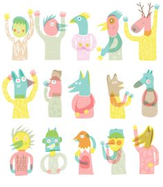 Judy Kaufmann by Anna Goodson Ilustration , via Behance