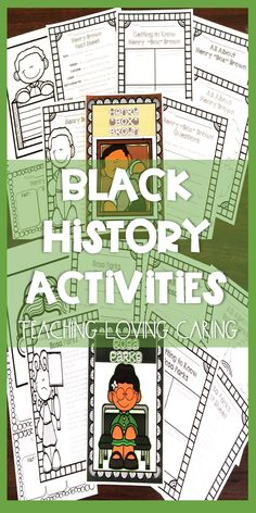 Black History/ African American History Bundle:  engaging nonfiction activities teach about  Barack Obama, Booker T. Washington, Rosa Parks, Frederick Douglass, Henry Box Brown, Thurgood Marshall, George Washington Carver, Jesse Owens, Ruby Bridges, Harriet Tubman, Jackie Robinson, and Sojourner Truth.
