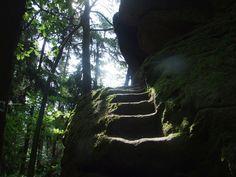 Zkamenělý Zámek (Stoned castle)- stairs to castle (distr. Mělník, central Bohemia)