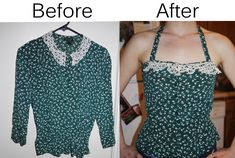 What a big difference with just a cut of the sleeves!
