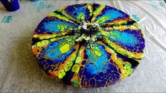(433) AWESOME effects with PEBEO pouring medium ~ STAINED GLASS look ~ O...