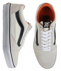 Vans TNT 5 Skate Shoes - White/Black $65.00 #vans #tnt