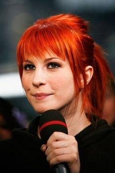 Orange Pony + Bangs #sparks #sparkscolor #orangecrush #orangehair #celebrityhair #brighthair