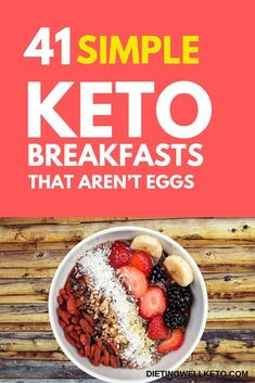 Looking for some easy keto diet recipes? Check out 3 Tasty & Proven Keto Recipes which will only satisfy your hunger but will also help you in weight loss. Diet Dinner Recipes, Diet Recipes, Cake Recipes, Best Keto Breakfast, Breakfast Ideas, No Egg Breakfast, Keto Breakfast Smoothie, Keto Diet Side Effects, Ketogenic Diet Starting