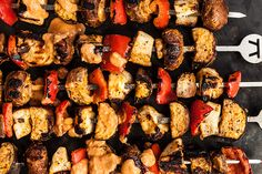 Grilled Halloumi and Vegetable Kebabs - it!Halloumi, a salty cheese from Cyprus in the Mediterranean, has a high melting point, which makes it great for grilling. Toss the cheese, eggplant, mushrooms, and bell peppers with an easy blended tomato-artichoke sauce, then skewer and grill until charred. Serve with a Mediterranean Couscous Salad to round out an alfresco vegetarian meal.