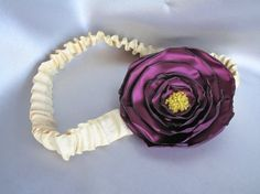 purple and  yellow beads fabric flower with by MyFlowerWorld, $15.00