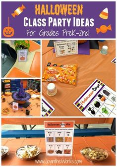 Looking for ideas for your child's class Halloween party? Check out these fun activities that will work for kids for Preschool, Kindergarten, 1st and even 2nd grade!