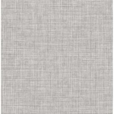 This linen inspired wallpaper is perfect for creating a homey and inviting feel. Its woven design features layers of taupe, grey and black hues, creating a dimensional look. Mendocino is an unpasted, non woven wallpaper. Grey Linen Wallpaper, Look Wallpaper, Wallpaper Samples, Wallpaper Borders, Wallpaper Online, Grey Textured Wallpaper, Feature Wallpaper, Bathroom Wallpaper Trends, Brewster Wallpaper