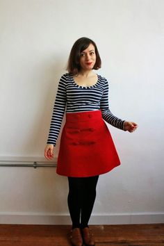 Tilly and the Buttons: Red Button Delphine Skirt