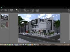 guidance exterior renderings with Artlantis 5 - YouTube