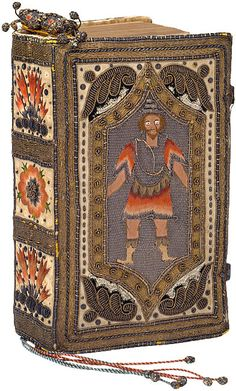 Embroidered binding: English, ca. 1652 on: The Holy Bible containing the Old Testament and the New London: Printed by the Companie of Stationers, 1650 - via The Morgan Library & Museum