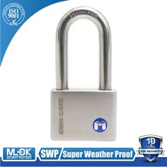 """""""MOK@12/50WF High quality anti theft ,long shackle stainless steel padlock"""""""