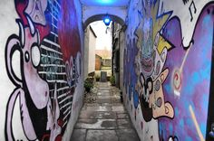 A little #graffiti #alley #perspective in #Berwick-Upon-Tweed. #art #culture #colour #painting #wall #hiphop #travel #tourism #tourist #leisure #life #Northumberland #England