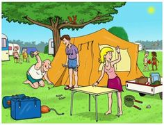 Things To Consider When You Go Camping. So, you've decided to go camping? Camping Holiday, Go Camping, Yosemite Camping, Action Verbs, Picture Writing Prompts, Picture Story, Summer Activities For Kids, Picture Description, Toddler Preschool