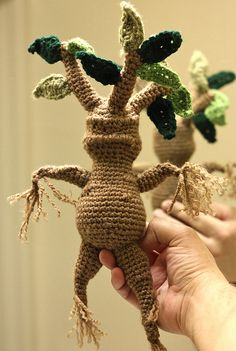 crochet, harry potter, and mandrake afbeelding