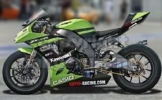 Cropped image from a commissioned work. Copyright 2009 Russ Schwenkler for Quinonez Industrial Kawasaki Superbike Racer Kawasaki Motorbikes, Yamaha Bikes, Kawasaki Motorcycles, Triumph Motorcycles, Custom Motorcycles, Custom Bikes, Custom Baggers, Specialized Bikes, Hot Bikes