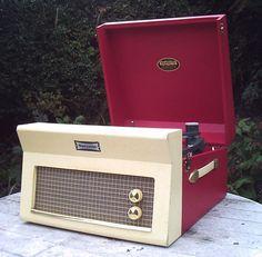 Fully restored 1960s Dansette Major Deluxe 21 record player  on eBay
