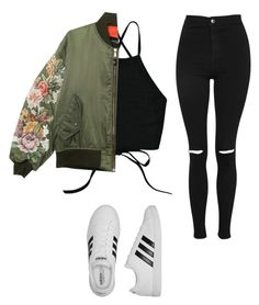 """?řïß"" by elzikaa on Polyvore featuring Topshop and adidas"