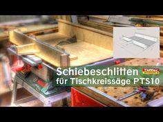 Projekt Schiebeschlitten für Tischkreissäge PTS10.Wie man sich Schiebeschlitten bauen kann um genauer zu sägen.Projekt mit Bauteileliste, Sketchup Zeichnung