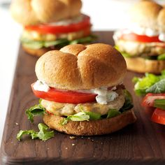 Feta Chicken Burgers Recipe -My friends always request these tasty chicken burgers on the grill. I sometimes add olives to punch up the flavor! Try them with the mayo topping. —Angela Robinson, Findlay, Ohio