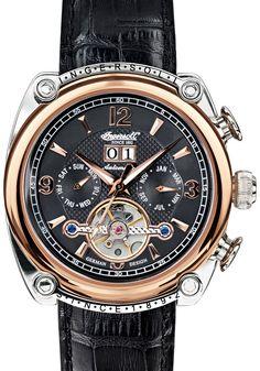 4c0d7b884fd Ingersoll 6907RBKIN Cimarron Automatic Rose Gold Black Fine Watches