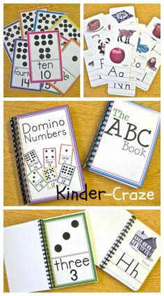 Make a book for the classroom library with old alphabet or number materials