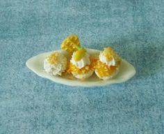 Mango ice cream Miniature food Dollhouse ice cream Dollhouse