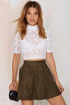 Marianne Pleated A-line Skirt