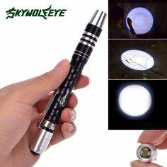 Portable Lighting Open-Minded Black Plastic White Light Press Button Usb Led Lamp Torch