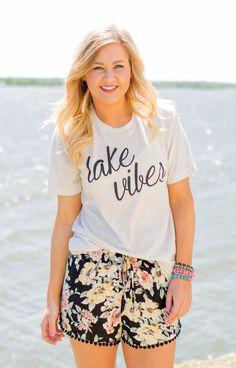 Lake vibes unisex crew neck t-shirt-more colors