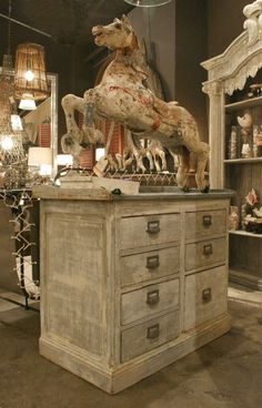 zinc topped chest of drawers for the bedroom
