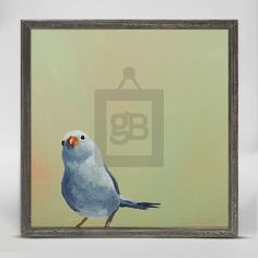 """Little Blue Bird"" Mini Framed Canvas from GreenBox Art + Culture. Size - 6''x6''. Price - $29.98. Rustic frame color is predetermined. Browse our entire collection of Mini Framed Canvases!"