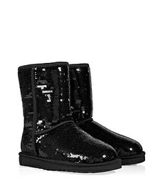 Work star power into every outfit with UGG Australia allover shimmering sequin covered classic short boots #Stylebop