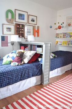 Small Bedroom Design for Boy. Small Bedroom Design for Boy. 45 Best Boys Bedrooms Designs Ideas and Decor Inspiration Boy And Girl Shared Bedroom, Shared Boys Rooms, Shared Bedrooms, Small Shared Bedroom, Boy Rooms, Little Boys Rooms, Girl Bedrooms, Rooms For Boys, Room For Two Kids