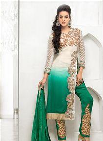 Alluring Georgette And Net Designer Salwar Suit