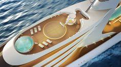 Este concepto futurista de súper yate de HBD Studios sería uno de los barcos privados MÁS LARGOS DEL MUNDO – MEGA RICOS