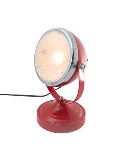 The Industrial Edge Metal Vespa Headlight Table Lamp